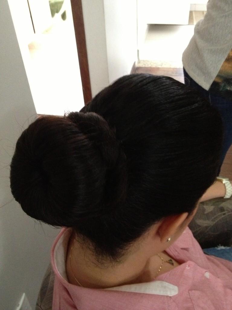 coque rosca penteado para madrinha