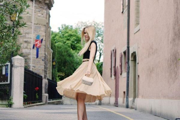 vestido princesa como-usar-saia-midi-look-saia-midi