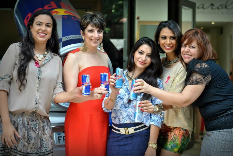 O Clube: Gláucia Macedo, eu, Bárbara Urias, Cissa Santos e Cássia Santana.