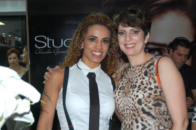 Cláudia Guimarães e eu.