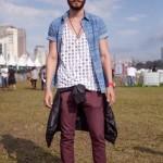 Moda masculina: calça colorida para eles.