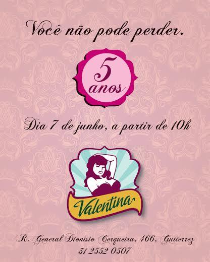 90bfb0577 Hoje tem uma ótima notícia para vocês que são de Belo Horizonte e região! O  Salão Valentina está contando os dias para comemorar o aniversário de 5  anos ...