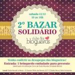 Vem aí o 2° Bazar Solidário do Clube das Blogueiras!