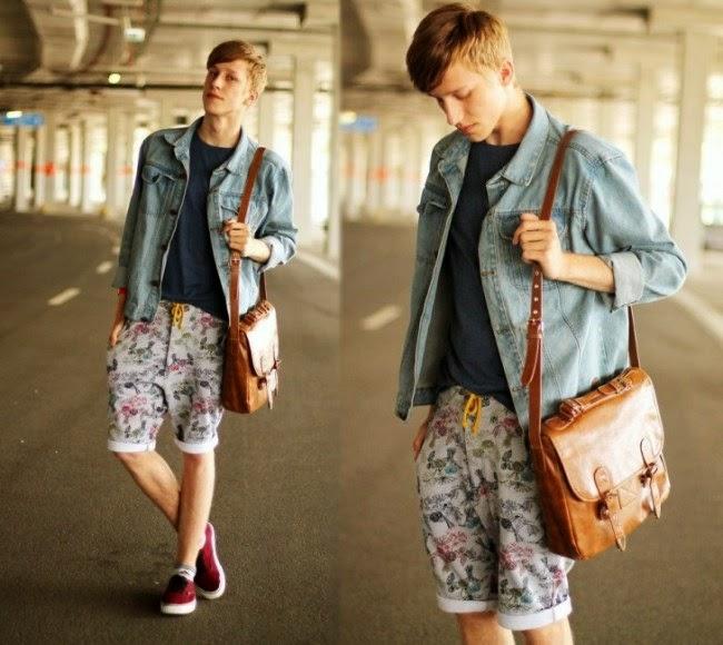 moda-masculina-bermuda-floral-para-homens 2