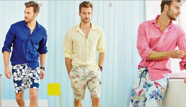 moda-masculina-bermuda-floral-para-homens 3