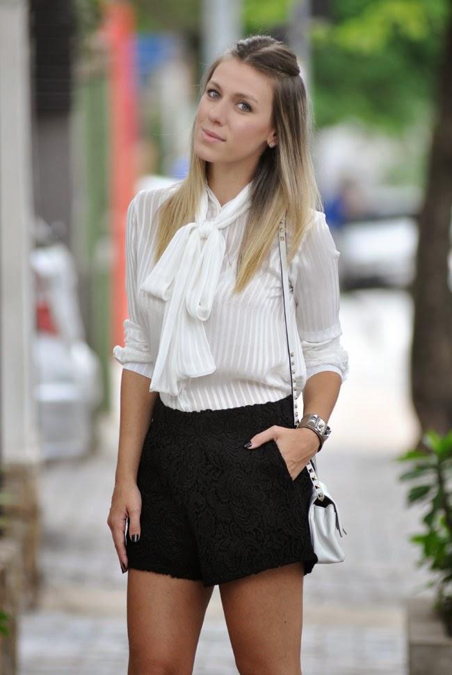 c20c70b2f3 Para se inspirar  camisa laço! Alessandra Faria