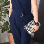 Look do dia: jumpsuit azul marinho!