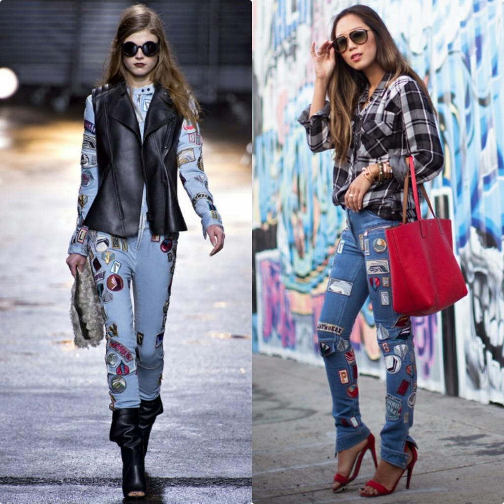 jaqueta_jeans_bordada_calça_jeans_customizada_com_patches_e_bottons_street_style 3