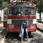 Look do dia: press trip vintage bus!