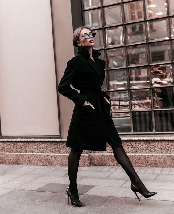 Look all black para o fim de semana por Alessandra Faria