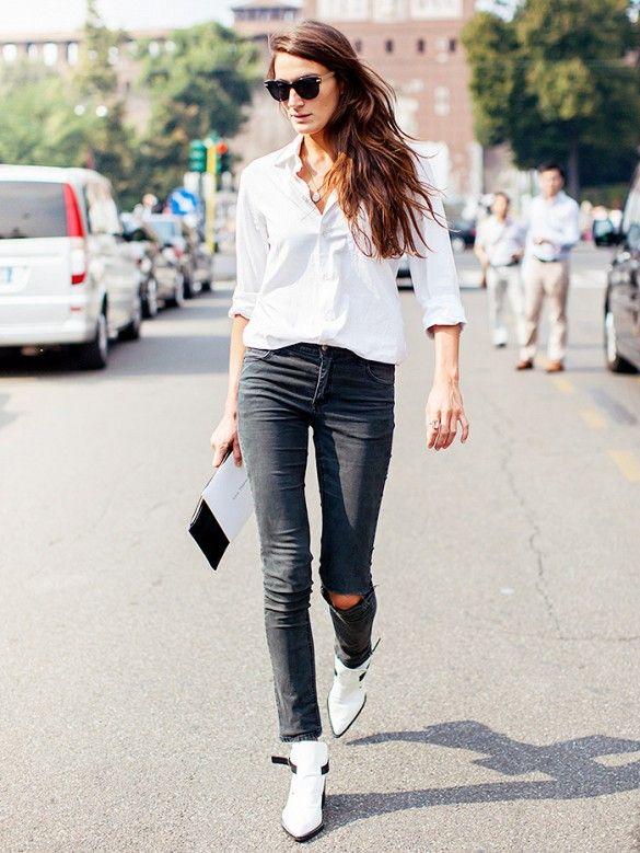 Bota branca no ambiente de trabalho para se inspirar por Alessandra Faria