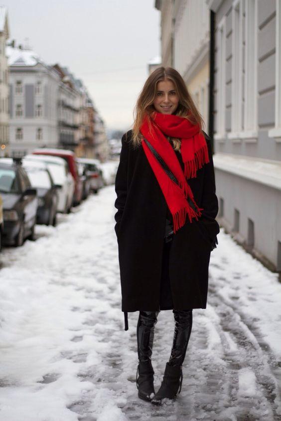 Cachecol oversized street style alto inverno 19 por Alessandra Faria