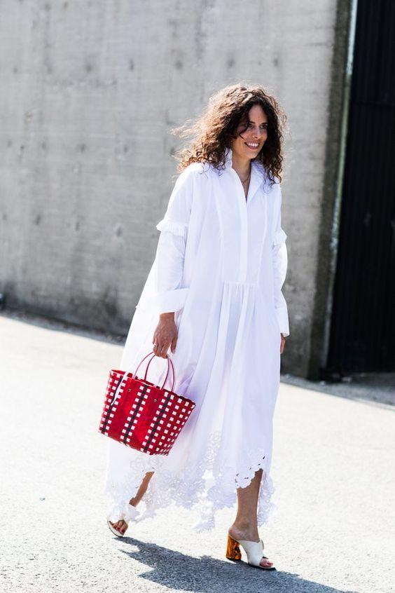 Vestido solto para o verão 2020 por Alessandra Faria