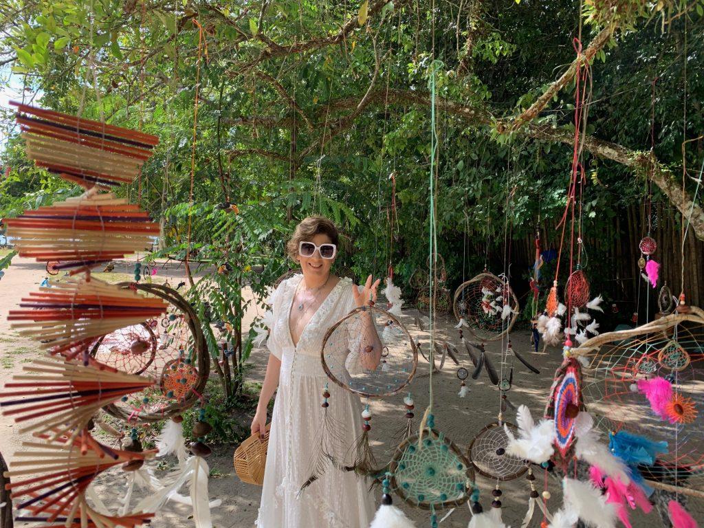 Vestido de laise, look do dia em Trancoso por Alessandra Faria