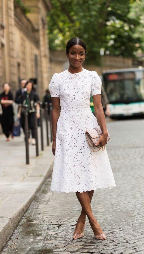 Vestido De Laise Branco Para Se Inspirar Alessandra Faria