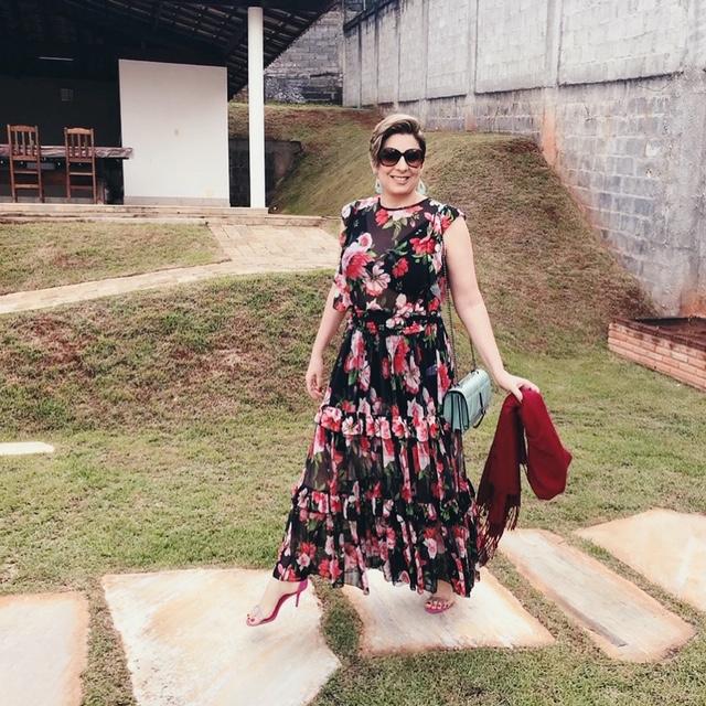 Conjunto de Tule floral look de natal 2019 por Alessandra Faria