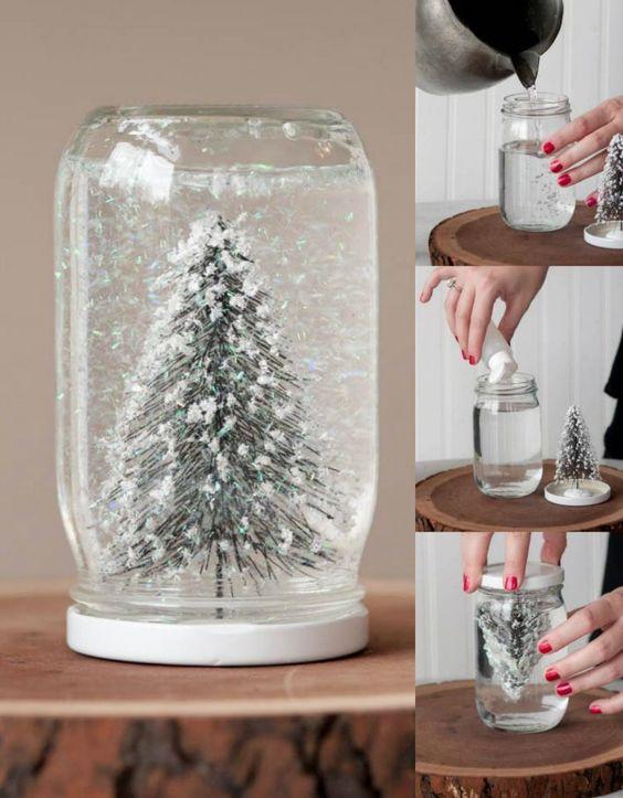 Como fazer globo de neve natal 2019 por Alessandra Faria