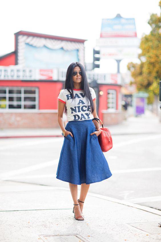 jeans skirt tendência verão 2020 por Alessandra Faria