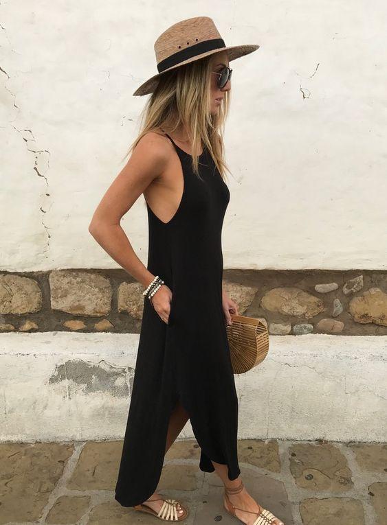 look preto  para o verão por Alessandra Faria
