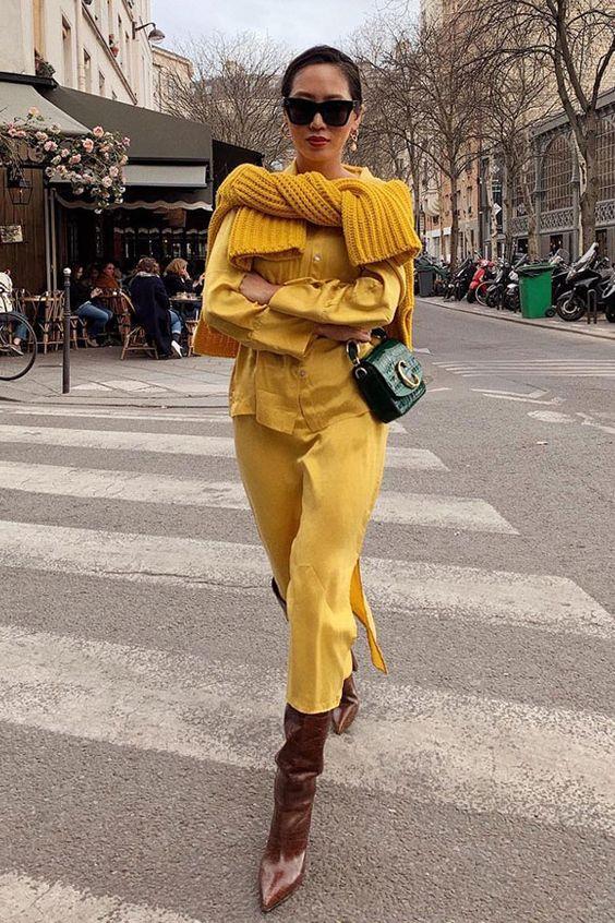Amarelo fashion se consagra a cor do outono inverno 2020 por Alessandra Faria