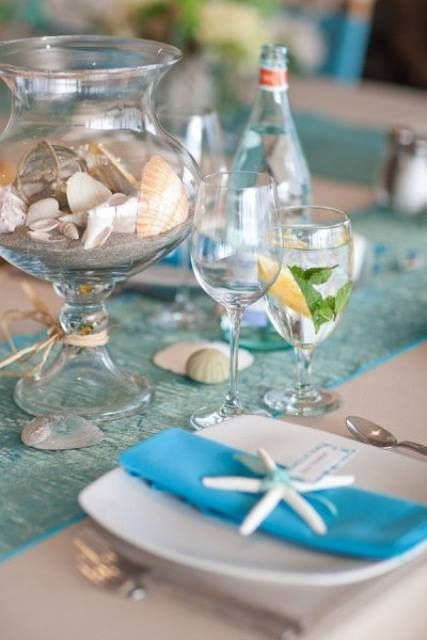 Decoração de mesa praia para se inspirar por Alessandra Faria