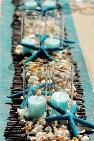 Decoração de mesa posta tema mediterrâneo ou praia para se inspirar por Alessandra Faria