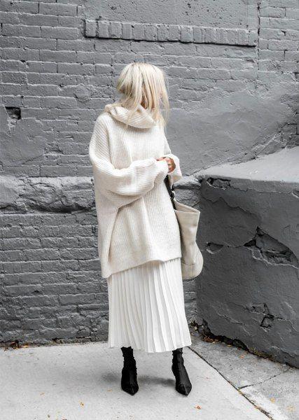 Looks off white no inverno por Alessandra Faria
