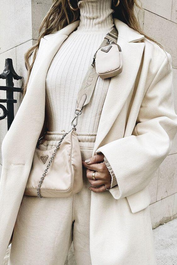 Looks all white e off white no inverno por Alessandra Faria