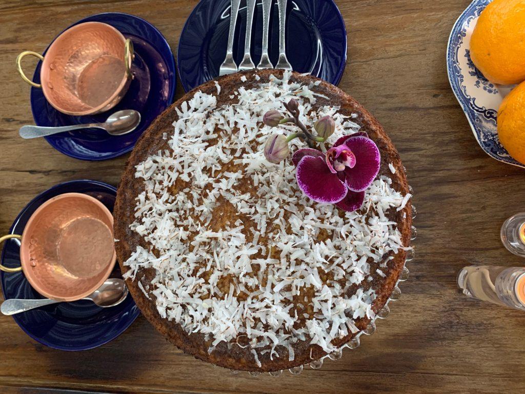 Receita de bolo de coco fit com aipim por Alessandra Faria