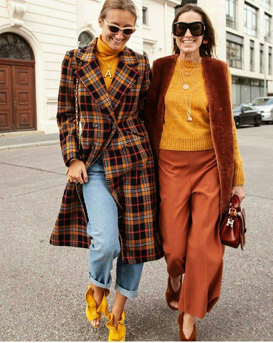 5 motivos para investir num casaco longo xadrez por Alessandra Faria