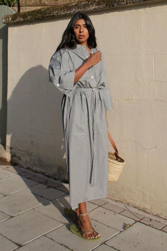 3 formas de usar vestido chemise  por Alessandra Faria
