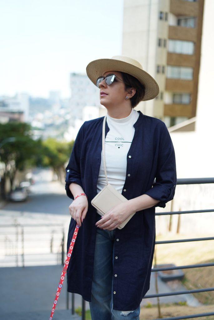 Chemise com calça para look do dia por Alessandra Faria