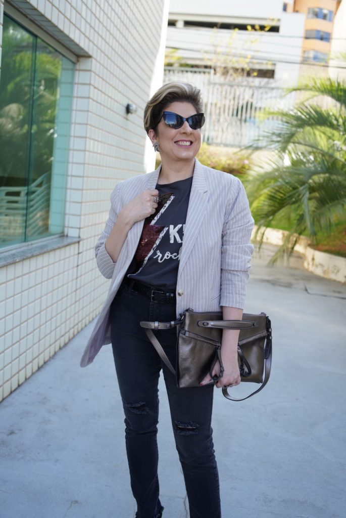 1 blazer alongado, vários looks por Alessandra Faria