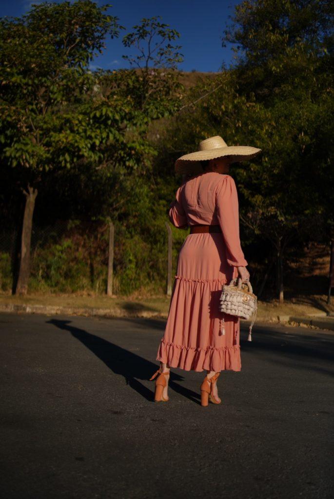 Vestido solto rosa look do dia que me surpreendeu por Alessandra Faria