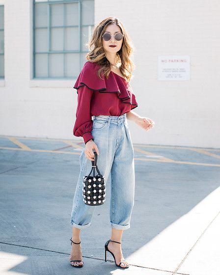 Slouchy jeans, mais uma dos anos 80, por Alessandra Faria