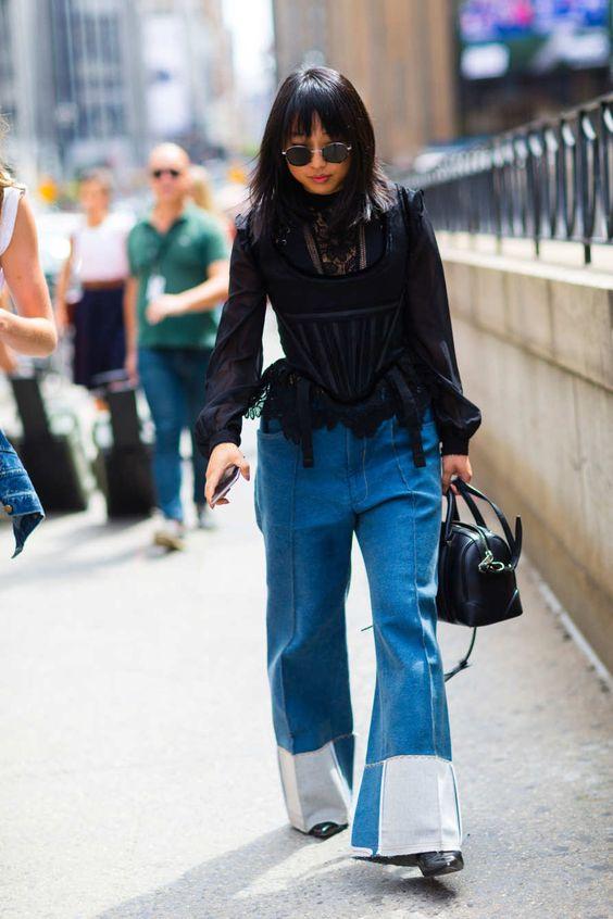Pantalona jeans para se inspirar por Alessandra Faria