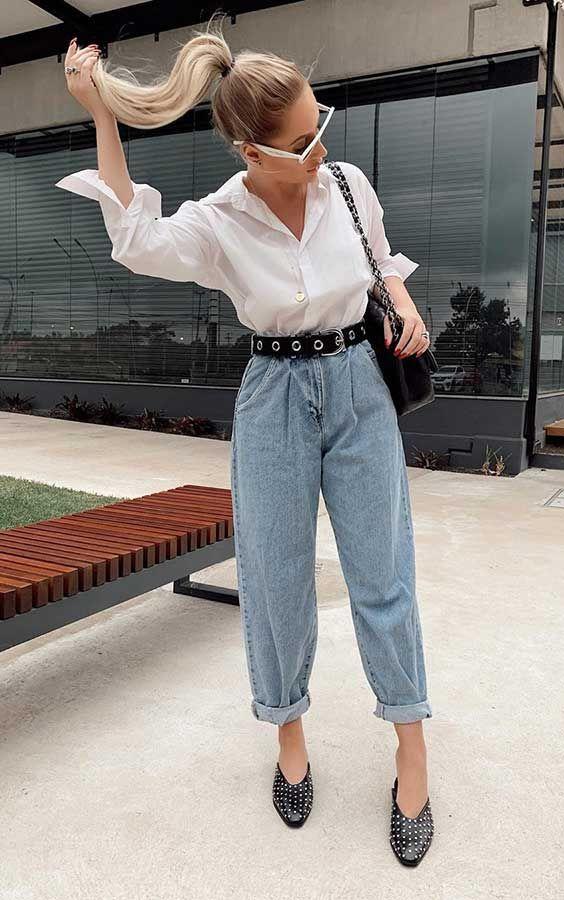 Camisa branca com calça  jeans, combo perfeito para todas as horas, por Alessandra Faria