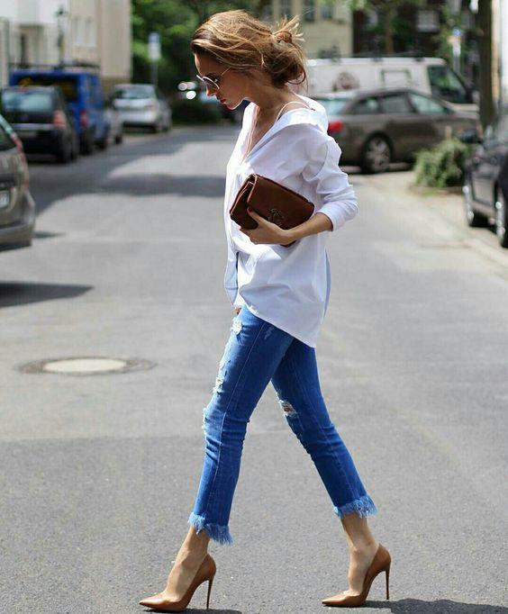 Camisa branca com jeans, combo perfeito para todas as horas, por Alessandra Faria