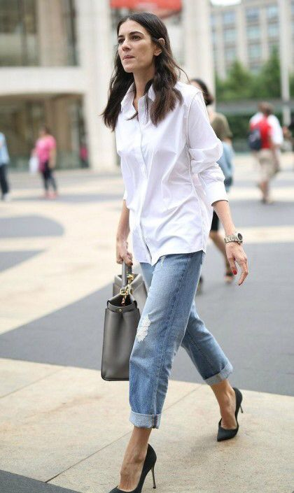 Camisa branca e jeans, combo perfeito para todas as horas, por Alessandra Faria
