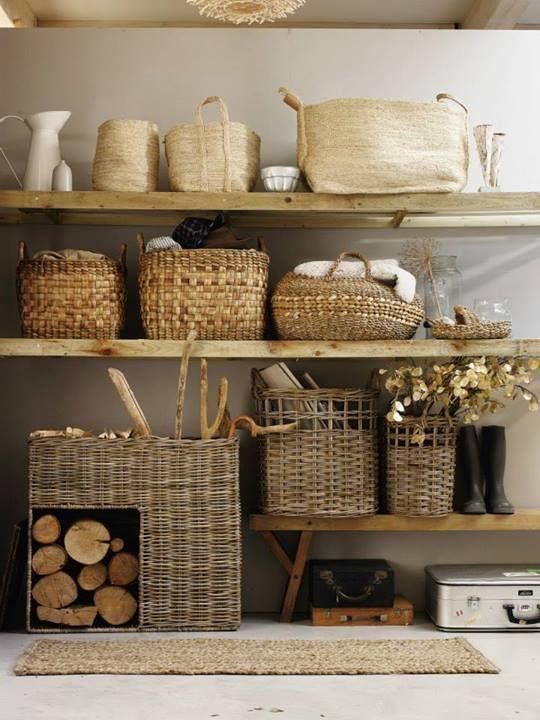 Como usar cestos organizadores na decoração por Alessandra Faria