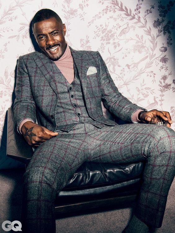 O estilo de Idris Elba esbanja charme e elegância por Alessandra Faria