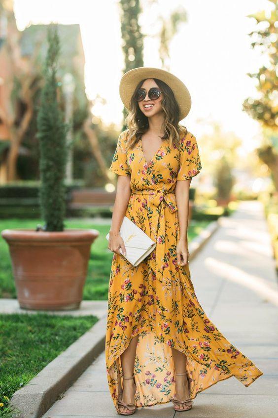 wrap dress floral para se inspirar por Alessandra Faria