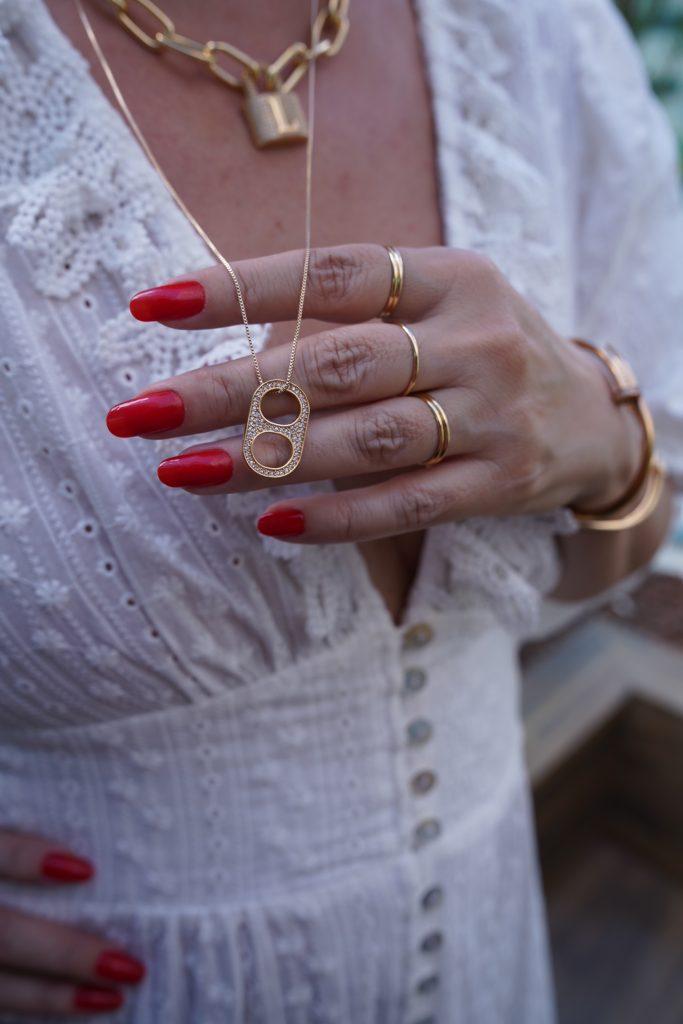 Vestido de laise branco look do dia pro Alessandra Faria